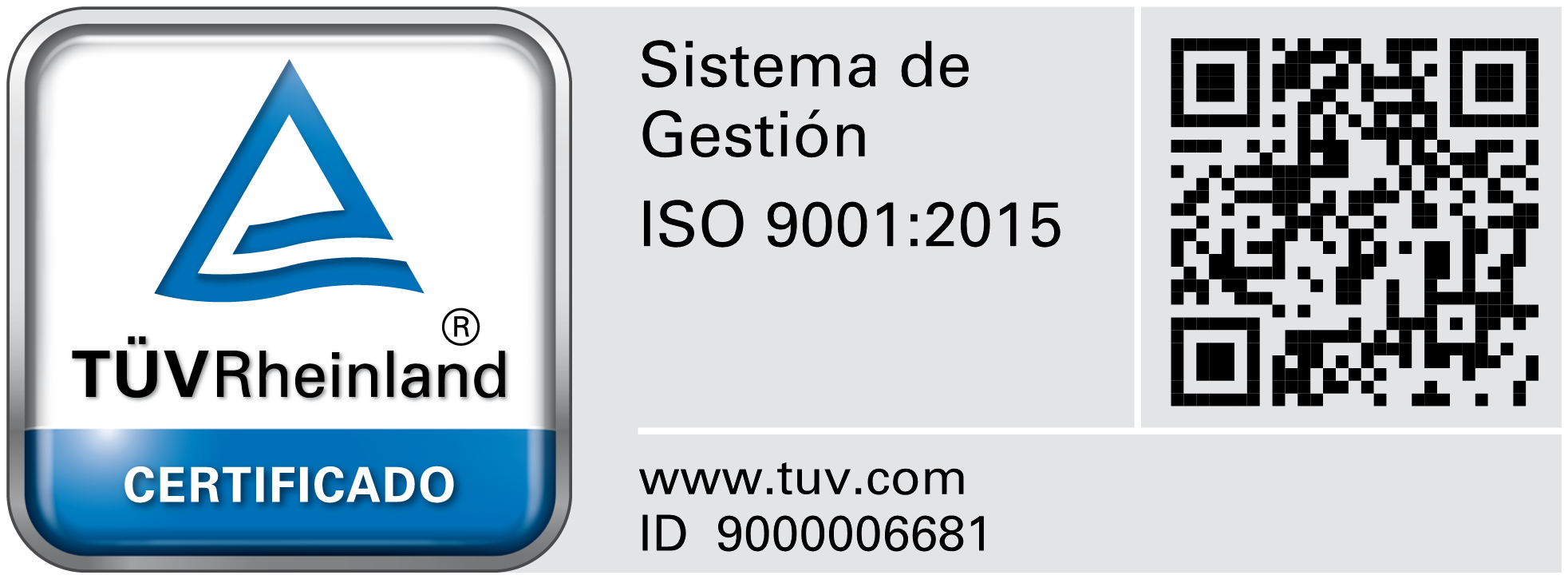 ISO 9001:2015 CERTIFICADO