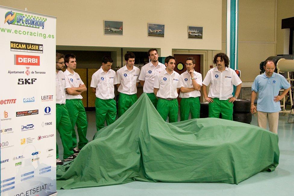 Presentación del primer UPC ecoRacing ecoR2 el 9 de julio de 2010